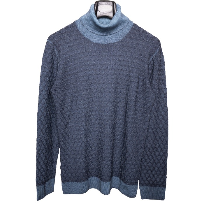 [GARBRIELE PASINI] WOOL KNIT (NAVY)