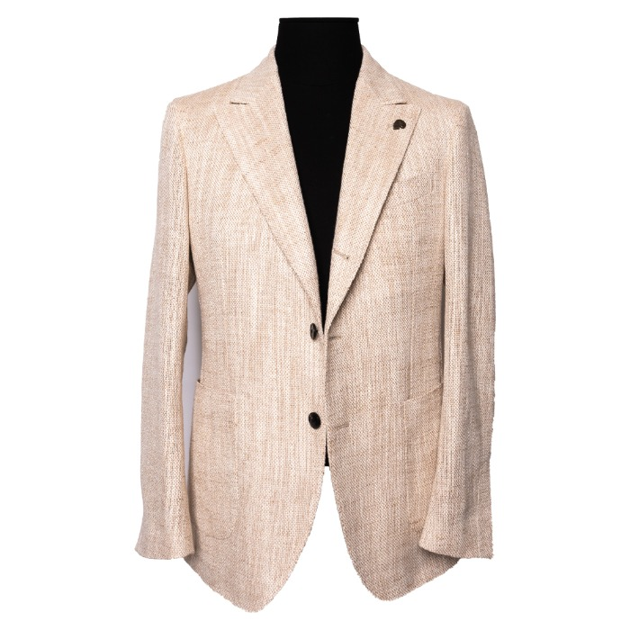 [GABRIELE PASINI] CAPRI SINGLE JACKET (OATMEAL)