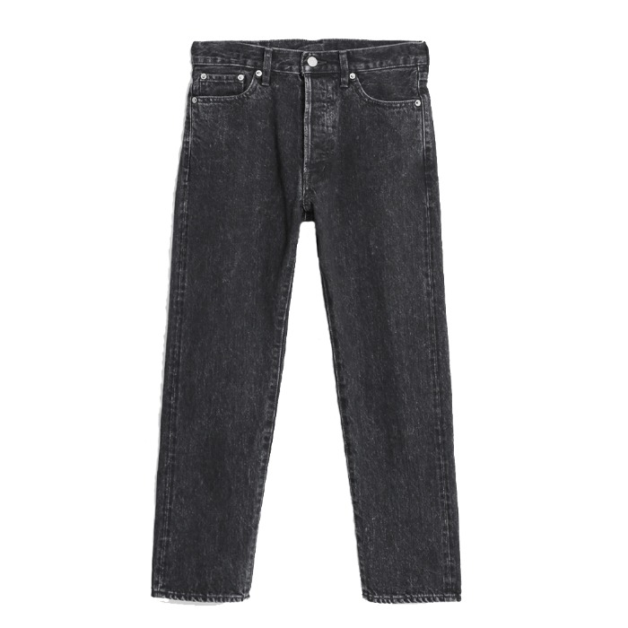 [ORDINARY FITS] 5PKT ANKLE DENIM USED (BLACK)