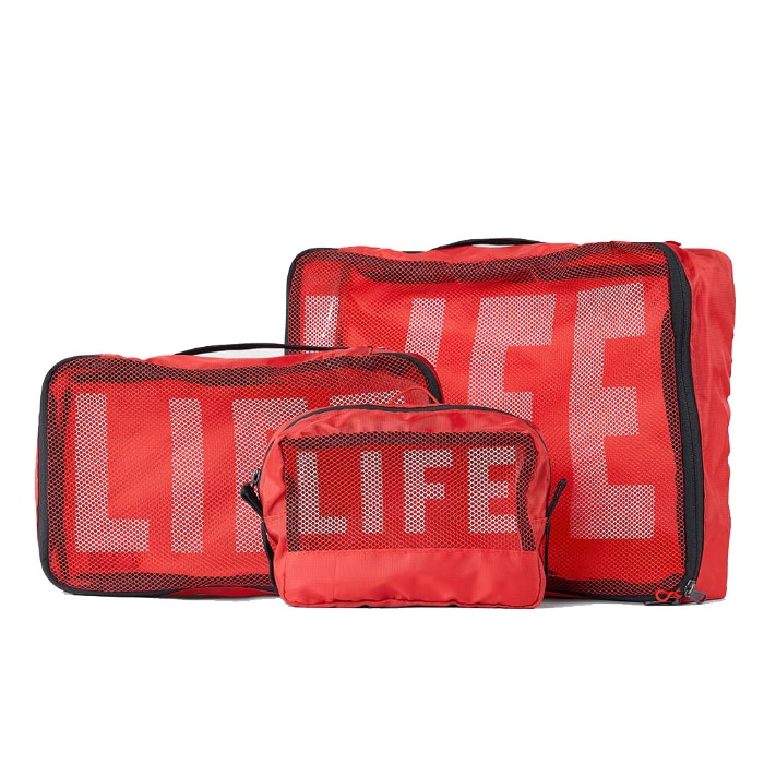 [LIFE] PACKABLE POUCH SET (RED)